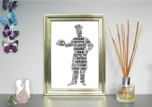 Chef or Chefs Hat Personalised Word Art Print FREE UK P&P. | Etsy