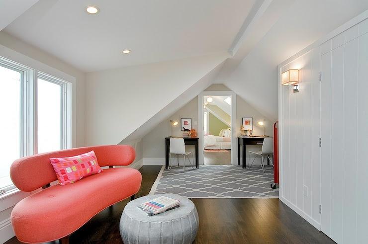 Coral Pink Sofa - Contemporary - girl's room - Benjamin Moore ...