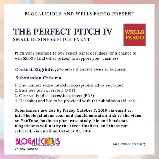 Wells Fargo Presents The Perfect Pitch IV at Blogalicious 2016