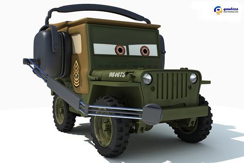 Sarge - Disney Pixar Cars 2 by Gandoza