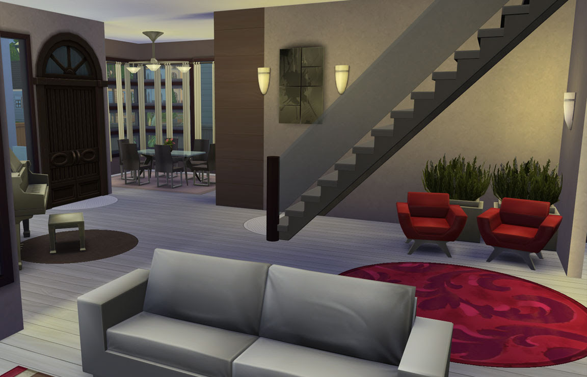 sims 4 download house modern charm livingroom