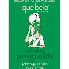 Que Bella Peel-Off Mask, Refreshing, Pomegranate - 15 g