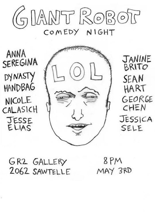 Quick Dish LA: GIANT ROBOT COMEDY Night Tomorrow at GR2 Gallery - Comedy Cake