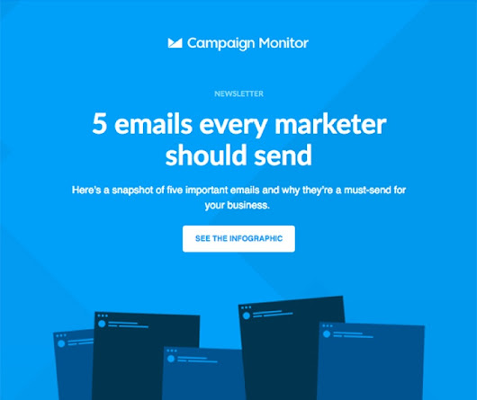 Infographic - 5 Emails Every Marketer Should Send