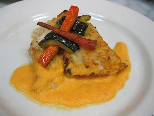 Flounder with Tomato Wine Sauce