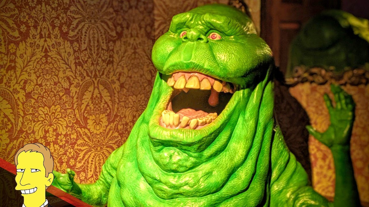 wax figure of Slimer from Ghostbusters at the Madame Tussauds museum