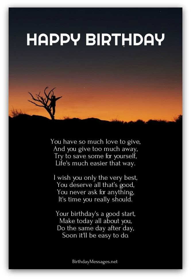 Inspirational Birthday Poems - Page 3