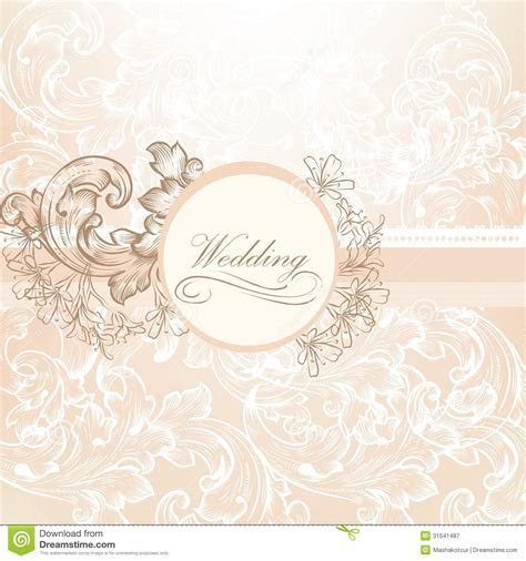 Wedding Vector Design In Vintage Style Stock Vector