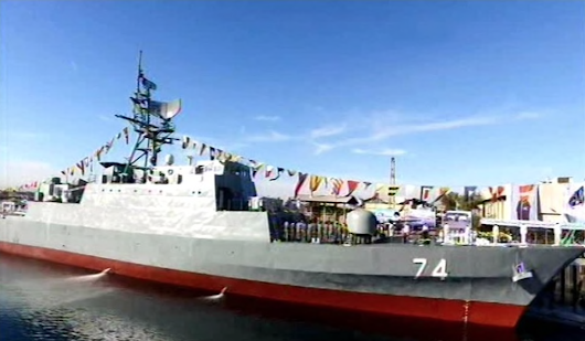 Iranian navy launches first stealth destroyer
