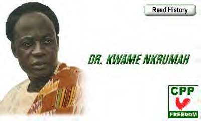 Kwame Nkrumah in Convention People's Party poster. The party was formed by Nkrumah on June 12, 1949 with 60,000 members and supporters in attendance in Accra, then known as the capital of the Gold Coast. by Pan-African News Wire File Photos
