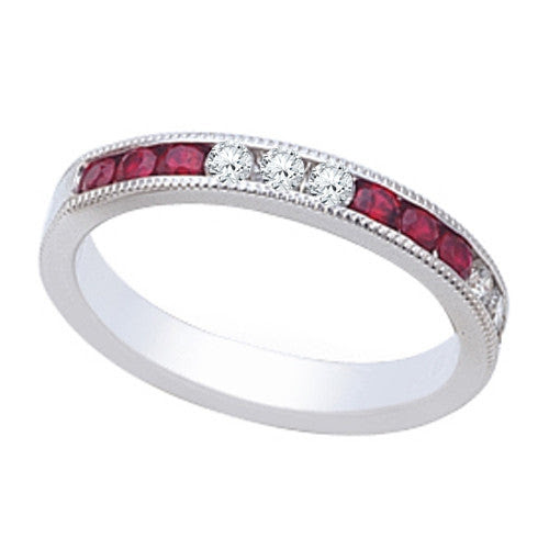 Wedding Ring With Round Stones with Pave Setting In 0.50 Carat Total W – CZJEWELRY.com #1 Cubic Zirconia Jewelry Manufacturer in USA