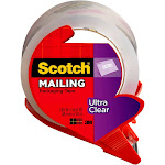 """Scotch Mailing Tape, Clear, 1.88"""" X 54.6 yds"""