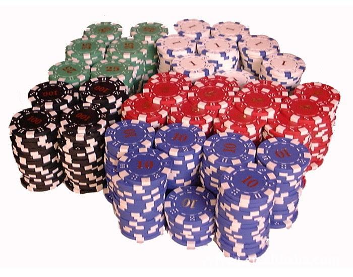 poker chips for money management
