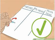 How to Create a Wedding Guest List: 12 Steps (with Pictures)