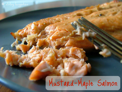 Mustard-Maple Salmon