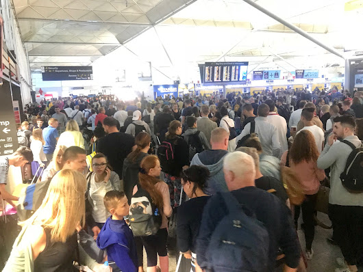 Chaos na Stansted