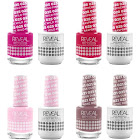 Gel and Lacquer Reveal Kit for Mani's and Pedi's (Pinks)