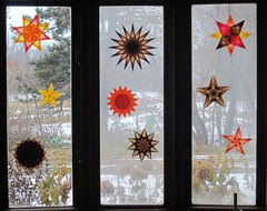 Window Stars for Thanksgiving