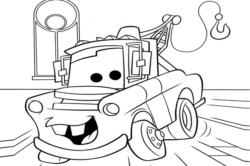 mater from cars coloring pages1