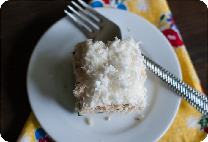 chocolate chip coconut cake