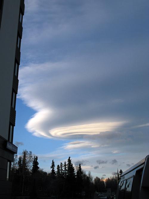 morning cloud formation, Anchorage, Alaska