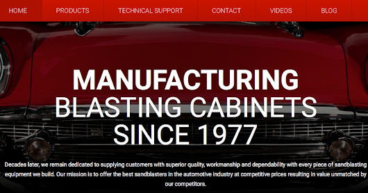 New Website Launch: MBA Automotive Blasting Cabinets | Media Blast Blog