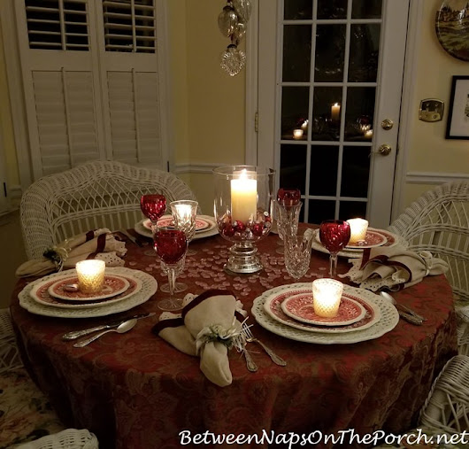 A Romantic Candlelit Table for Valentine's Day