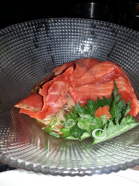 salmon somen