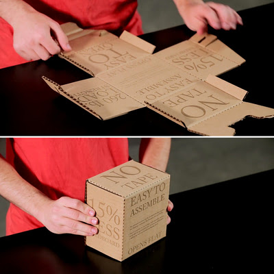 Cooper Union Students Re-Think the Cardboard Box with Their Rapid Packing Container