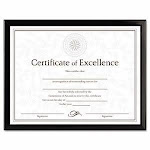Dax Value U-Channel Document Frame w/Certificates, 8-1/2 x 11, Blk (DAXN17000N)