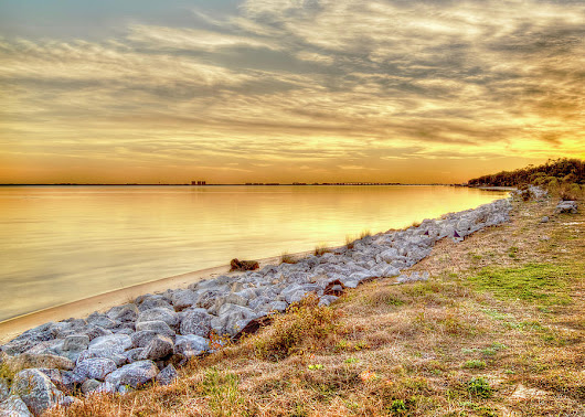 A Golden Choctawhatchee Bay Sunset In Florida  by Kay Brewer
