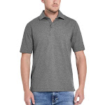 Weatherproof Vintage Men's Short Sleeve Polo, Gray, Medium