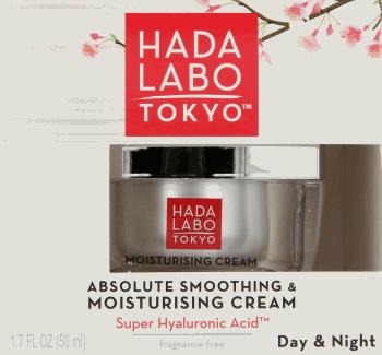 Hada Labo Tokyo, Moisturising Cream, krem nawilżająco-wygładzający na dzień i na noc, 50 ml, nr kat. 260909
