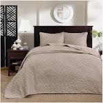 Madison Park Quebec 3-pc. King Bedspread Set - Khaki
