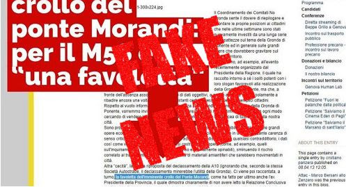 "Smontata la #FakeNews ""Per M5S era una Favoletta"", era un post in un forum di un iscritto"