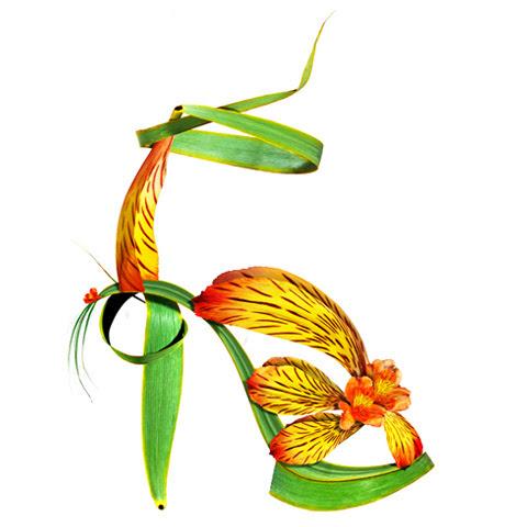 shoe fleur Michel Tcherevkoff