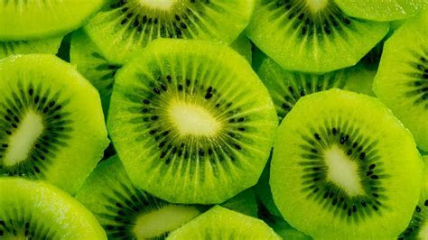 Kiwi Fruit Slices Cut Macro Green Wallpaper   WallpapersByte