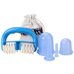 7pcs/Set Silicone Anti Cellulite Cup Vacuum Massage suction Cups Body Pain Relief Roller Manual Suction Cups Cupping Therapy Kit 5pcs blue