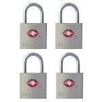 Master Lock 4683q Aluminum Body Luggage Locks, 4-pack
