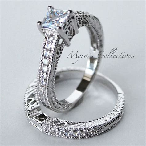 1.52CT VINTAGE FILIGREE BRIDAL WEDDING ENGAGEMENT RING
