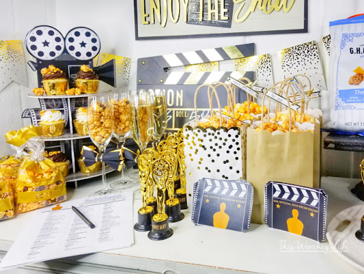Gold Oscar Party Idea | Easy Ways To Pull Of an Oscar Award Watching Party