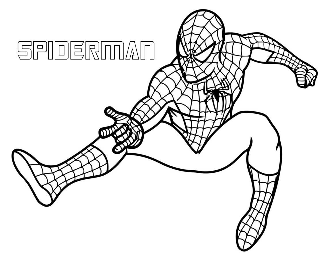 Superhero Coloring Pages Coloring And Drawing