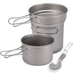 camping titanium cookware set