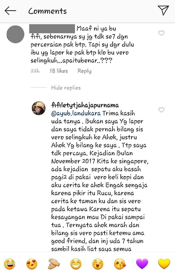 Jelang Ahok Nikah, Fifi Lety Beberkan Kronologi Perselingkuhan Veronica Tan, Kini Minta Doa Terbaik