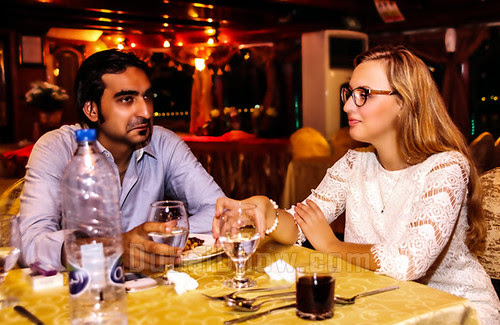The reckon of having a delicious dinner inwards the midpoint of the bounding main is stimulating as well as magazine Dubai destinations: dhow cruise dinner