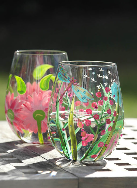 Beautiful Summer Wine Glasses (Giveaway) - Actually Mummy...