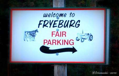 Fryeburg Fair Parking Sign