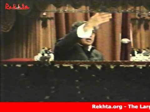 Kaifi Azmi reciting his ghazal/nazm at All India Mushaira