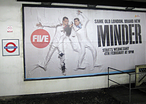 Minder Poster at Hammersmith Tube