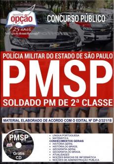 Concurso PM SP 2018-SOLDADO PM DE 2ª CLASSE
